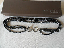 Silpada~Sterling Silver, Black Onyx & Hematite Bead Necklace~N1094