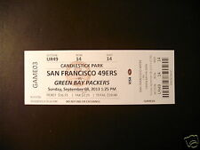 Green Bay Packers 2013 NFL ticket stubs - One ticket
