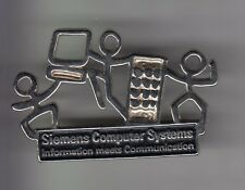 RARE PINS PIN'S .. INFORMATIQUE PC ORDINATEUR COMPUTER SIEMENS 3D BIG ARGENT ~C2