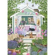 NEW! Otter House Summer Garden Cats 1000 piece country jigsaw puzzle