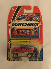 FIRE FREEZER - Matchbox Hero City Die Cast Car - Mint on Card