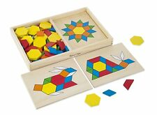 Melissa and Doug Pattern Blocks and Boards, Kids Children Toddler Puzzle, New
