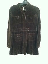 Ann Taylor Loft soft coat brown size 0 jacket winter fall zero pre-owned used