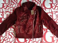 Guess Women's Moto Zip Denim Jacket Size M