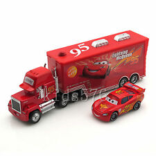 2-Pack Disney Pixar Cars NO.95 Lighting Mcqueen Mack&Car Superliner Truck Set