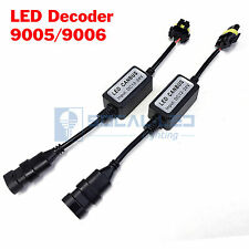 2x EMC 9005 HB3 Headlight LED Decoder Canbus Anti-Flicker Warning Canceller