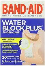 2 Pack - BAND-AID Bandages Finger-Care Water Block Plus Assorted Sizes 20 Each