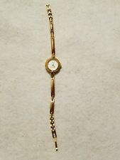 VINTAGE TIMEX ESSENTIALS WOMENS LADIES WRIST WATCH GOLD COLOR FREE SHIPPING