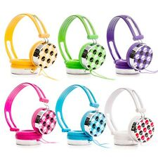RockPapa Skull Childs Kids Boys Girls Adult DJ Styles Headphones iPod iPad MP3