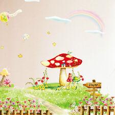 Mushroom RAINBOW FULL COLOUR WALL STICKER - BOYS GIRLS GRAPHIC C341