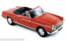 1967 PEUGEOT 404 CABRIOLET CAPANELLE RED 1/18 DIECAST MODEL CAR BY NOREV 184779