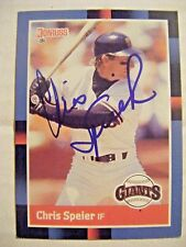 CHRIS SPEIER signed GIANTS 1988 Donruss baseball card AUTO Autographed CUBS #239