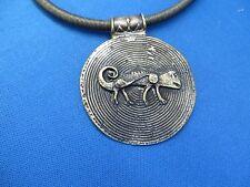 """African FAIR TRADE Jewelry BRASS """"GECKO DESIGN"""" CHOKER NECKLACE SOUTH AFRICA"""