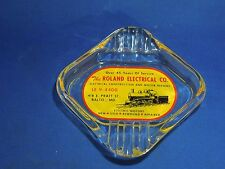 Vintage Ashtray Advertising The Roland Electrical Company Tobacciana Cigarettes