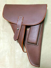"""GERMAN WWII P-38 P38 SOFTSHELL HOLSTER: BROWN (Repro) """"MARKED"""""""