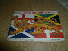 """""""Flags & Emblems"""" Incomplete Set of Brooke Bond Picture Cards in Album ~ VGC"""