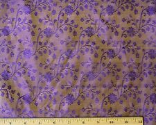 "Purple Tissue Taffeta Jacquard 100% Silk Fabric, 44"" Wide, By The Yard (JD-505)"