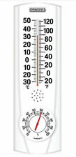 Springfield White Plain View Indoor Outdoor Thermometer Hygrometer F and Celsius