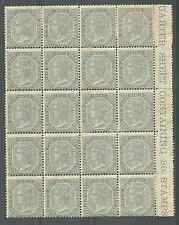 INDIA SG72 THE 1867 QV 6a8p  MINT MARGINAL BLOCK OF 20 CAT £1800++ A RARE ITEM