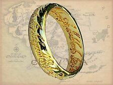 Valentine LOTR Lord of the Rings Hobbit 18 Kt Gold GP Replica Engraved + Chain