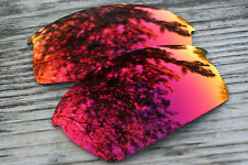 Purple Red Custom Mirrored Replacement Sunglass Lenses for Oakley Bottlecap