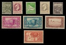 ALGERIA, French Territory, 9 Different Mint Stamps, Pre 1945 Period