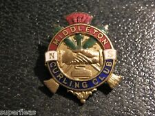 Old cloisonne Middleton , Nova Scotia Curling Club pin - undated