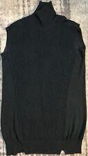 Alexander Wang Women's Sleeveless Wool Sweater Sz S Black
