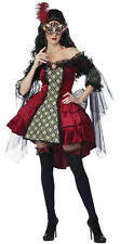 Womens Eye Candy Mysterious Masquerade Wicked Queen Adult Costume XS 4-6