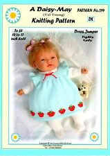 "1 DOLLS KNITTING PATTERN  No 299 16""-18"" doll A Val Young Pattern"