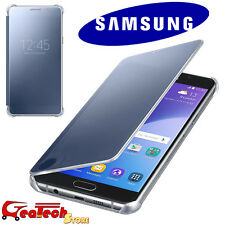 Clear View Cover Originale Pr Samsung Galaxy A5 A510 2016 Custodia Slim BLU NERA