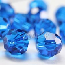 36 pcs Swarovski Element 5000 faceted 4mm Round Ball Beads Crystal Capri Blue