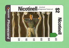 UNUSED $2  AUSTRALIAN PHONECARD - NICOTINELL  #0064605967