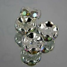 Rondelle 8mm Jewellery making  spacer beads findings Crystal Clear  Pk25 R19