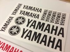 YAMAHA set of Vinyl Stickers sheet. Pick a colour Non OEM