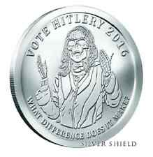 2016 1 oz HITLERY BU with COA SILVER SHIELD GROUP OLIGARCHY  .999 SBSS SSG 777