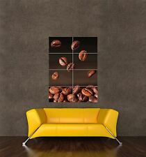 POSTER PRINT GIANT FOOD DRINK COFFEE BEANS FALLING CAFÉ RESTAURANT PAMP075