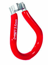"NEW ZERO12 CYCLE SPOKE KEY 0.136"" / 3.5mm - RED VINYL - BICYCLE BIKE TOOL"