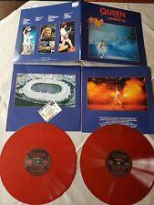Queen Live At Wembley 86 Red Vinyl Double LP Very RAR