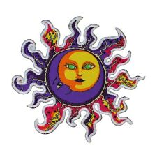Dan Morris Cosmic Sun & Moon Die-Cut Patch Psychedelic Iron-On Craft Applique