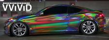 "VViViD Black Rainbow Hologram Chrome Vinyl Wrap Film Self-Adhesive 17.75"" x 5ft"