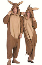 DOM THE DONKEY ADULT COSTUME FARM ZOO ANIMAL PAJAMAS COSTUMES BROWN JUMPSUIT