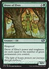 DROVE OF ELVES Commander 2014 MTG Green Creature — Elf Unc