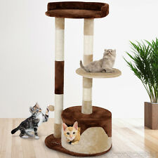 Cat Tree Activity Centre Scratching Post Sisal Scratcher Climbing Toy Bed 99 cm