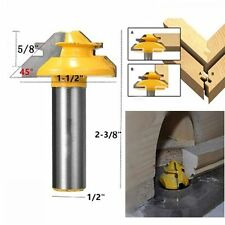 Tool 45 Degree Glue Joint Cutter Router Bit 1/2''Shank Lock Miter