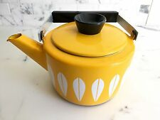 Cathrineholm TEA KETTLE yellow enamel teakettle Lotus Cathrine Holm Scandinavian
