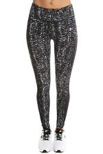 NIKE EPIC LUX SIDEWINDER PRINT TRAINING  leggings 10 12 MEDIUM BLACK GREY MIX