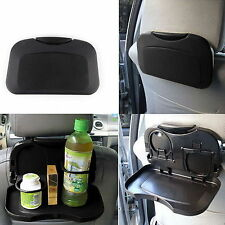 Car Auto Foldable Food Tray Rear Seat  Dining Table Drink Cup Holder-Black