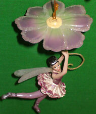 Flying Fairy w Purple Flower Umbrella Ornament by Katherines Collection LAST 1