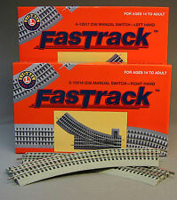 LIONEL FASTRACK LOT TRACK PACK INNER PASSING LOOP switch train fast 6-12028 NB